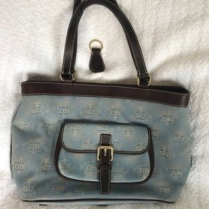 Dooney & Bourke Signature Canvas and Leather Purse